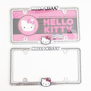 Hello Kitty Diamond Studded License Plate Frames